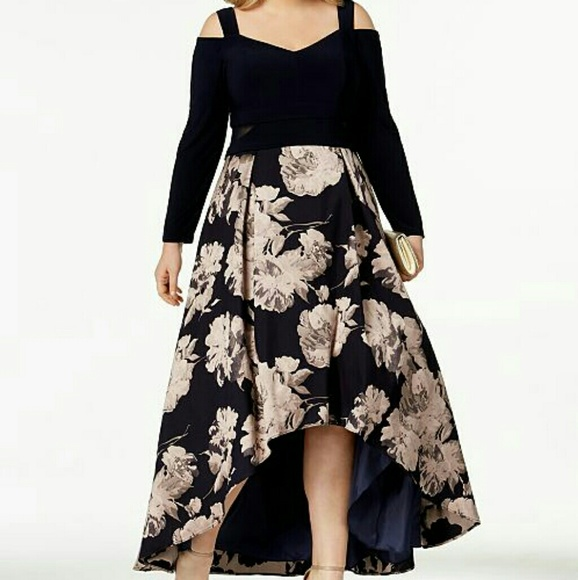 Xscape Dresses Nwt Plus Size Printed Highlow Gown Poshmark